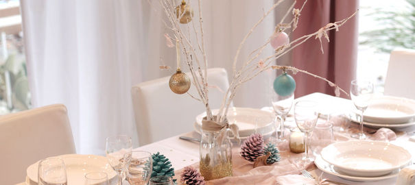 Diy belle table de no l par ang le d 39 invite et d cor for Diy deco table noel