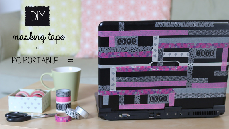 diy relookez votre pc portable avec du masking tape creacoton blogcreacoton blog. Black Bedroom Furniture Sets. Home Design Ideas