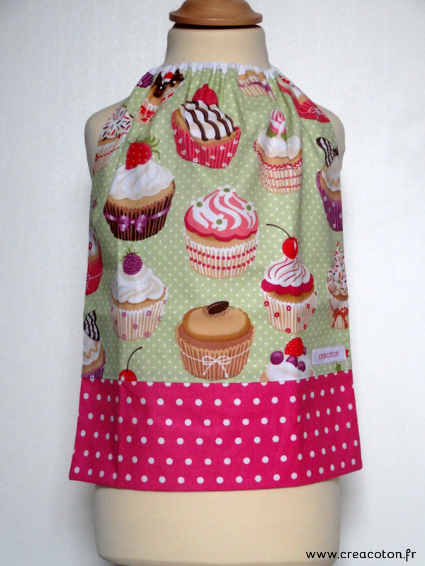Serviette de table lastiqu e cupcakes creacoton - Serviette de table pour cantine ...