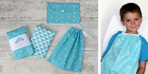 pack maternelle Creacoton - bleu turquoise