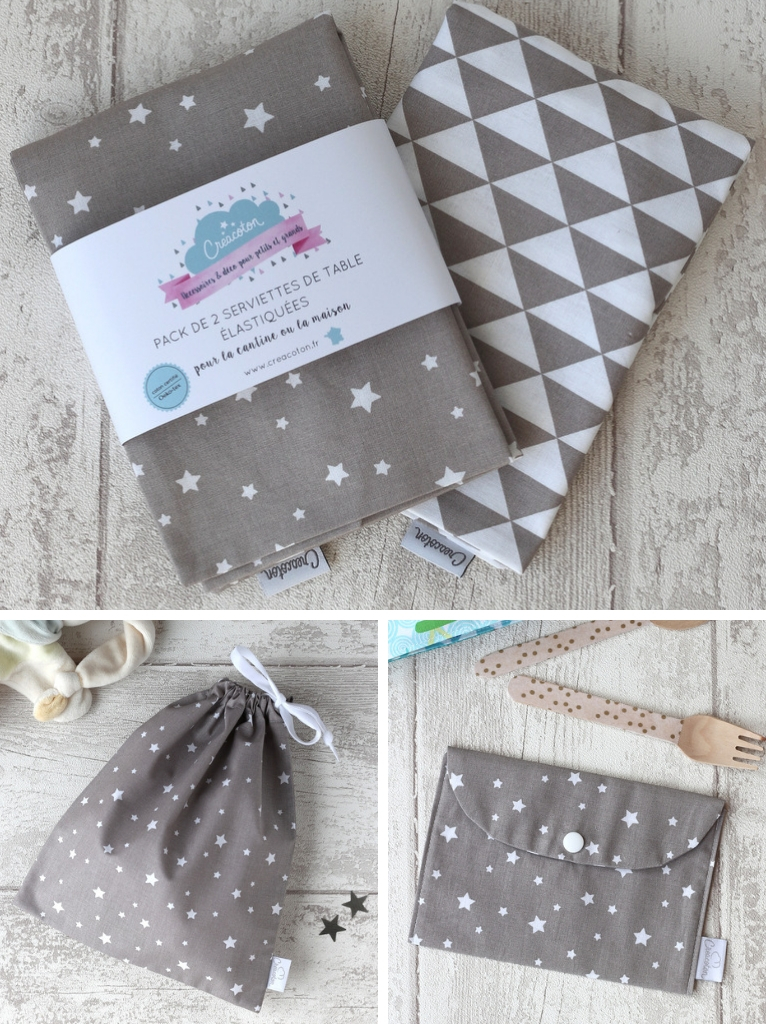 pack maternelle gris taupe Creacoton